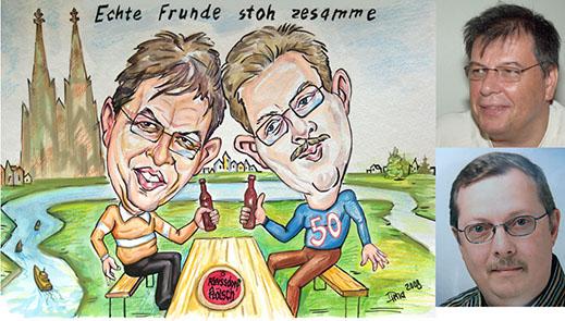 Livekarikatur und Auftragskarikatur  in Köln