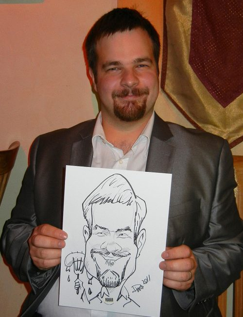 Live Karikatur A4 Format mit Motiv