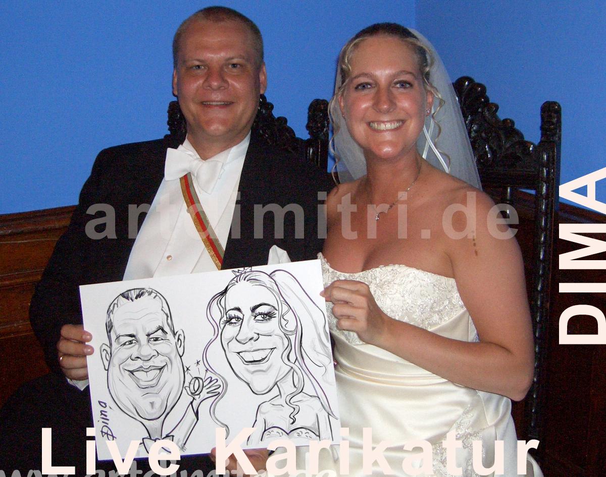 Livekarikatur_Hochzeit