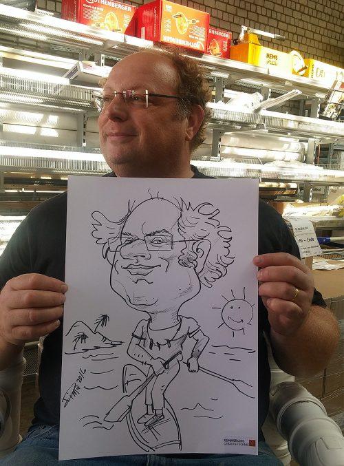 Live Karikatur A3 Format mit Motiv
