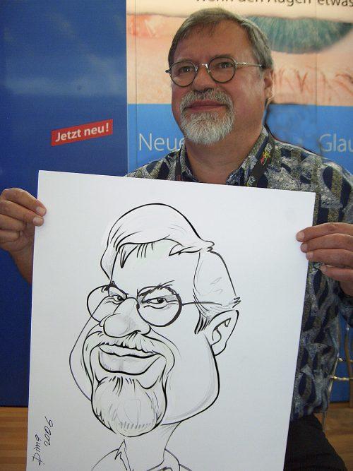 Live Karikatur A2 Format mit Motiv