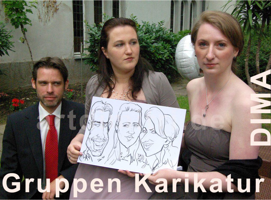 Gruppen Live Karikaturen, Schnellzeichnungen
